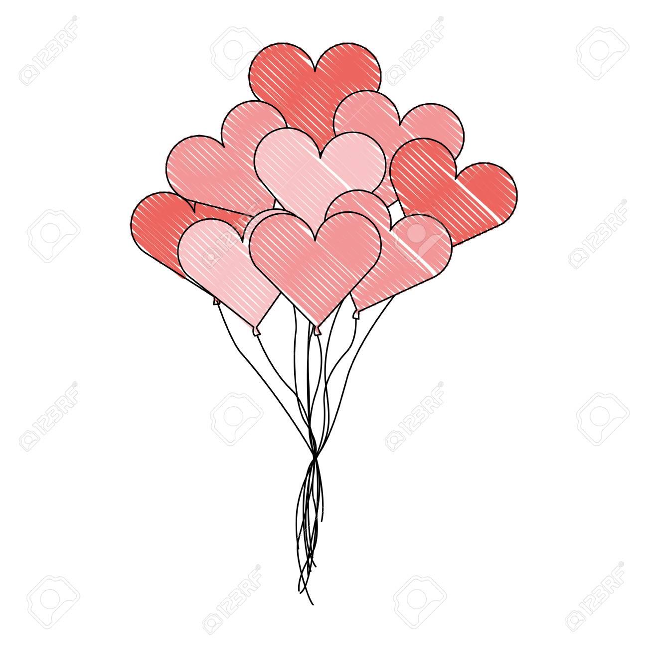 cute bunch of hearts