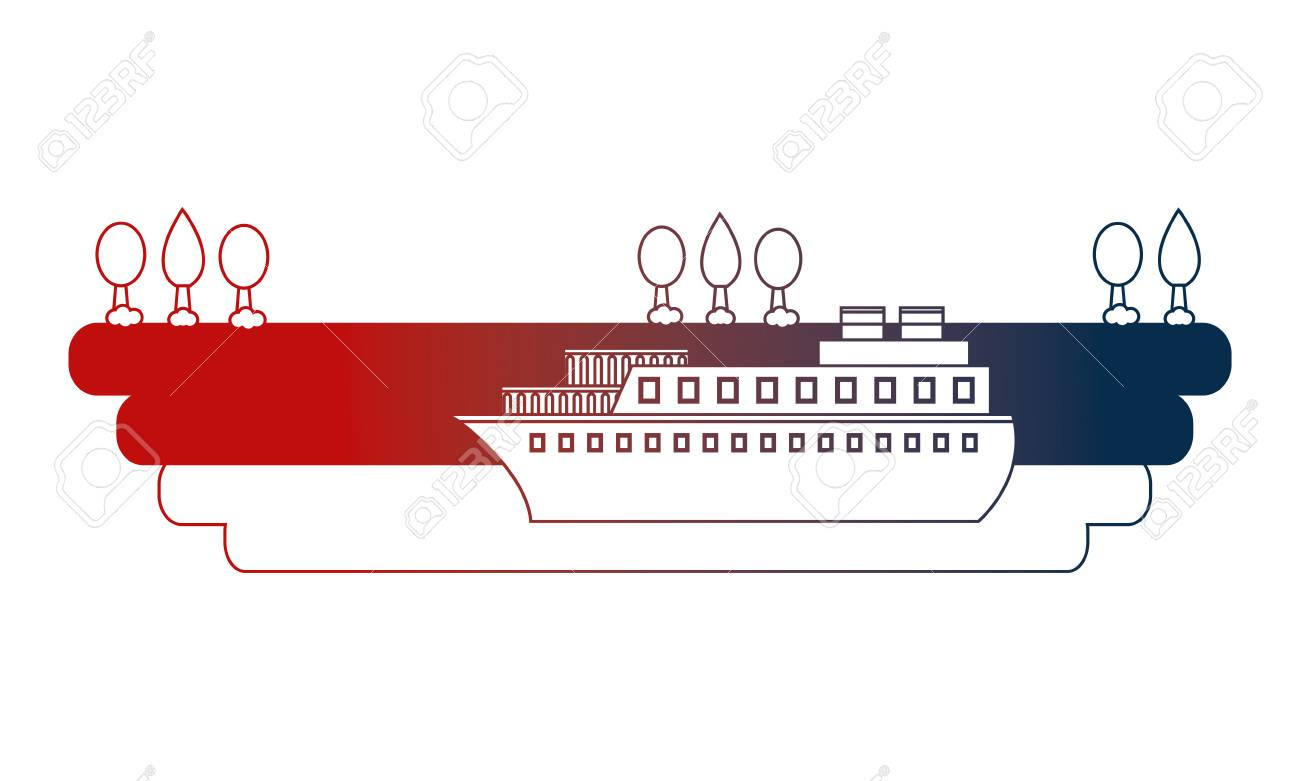 hight resolution of container ship shipping at the port vector illustration stock vector 114727914