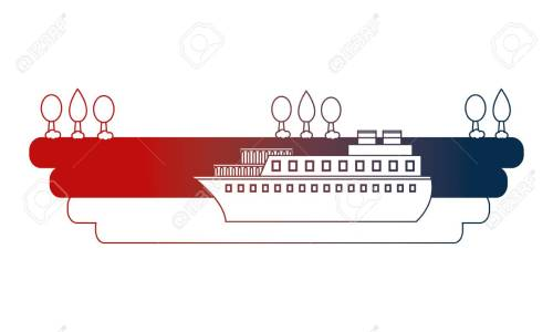 small resolution of container ship shipping at the port vector illustration stock vector 114727914