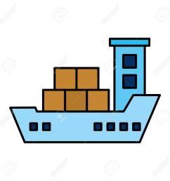 cargo ship isolated icon vector illustration design stock vector 109992148 [ 1300 x 1300 Pixel ]