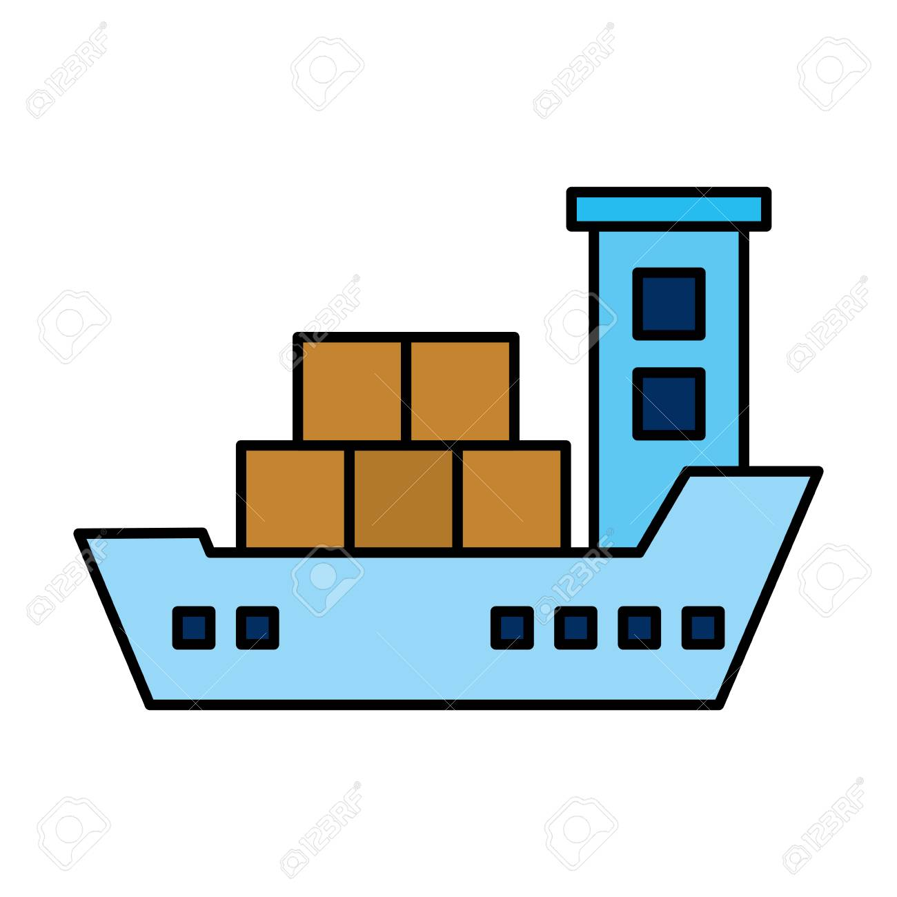 hight resolution of cargo ship isolated icon vector illustration design stock vector 109992148