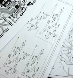 schematic diagram project of electronic circuit stock photo 54527254 [ 1300 x 864 Pixel ]