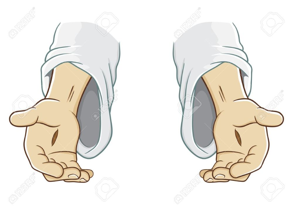 medium resolution of jesus christ hand reaching out illustration stock vector 52544833