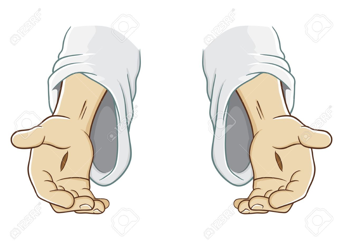 hight resolution of jesus christ hand reaching out illustration stock vector 52544833