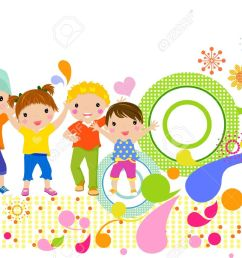 group of children having fun stock vector 19722647 [ 1300 x 860 Pixel ]