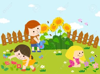 Cute Kids Playing In Garden Royalty Free Cliparts Vectors And Stock Illustration Image 31929997