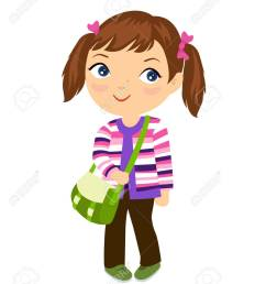 cute student girl stock vector 46476740 [ 1074 x 1300 Pixel ]