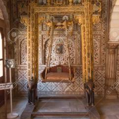 Floor Rocking Chair India White Leather Office Bikaner October 12 2015 Maharaja S In The Interior Of