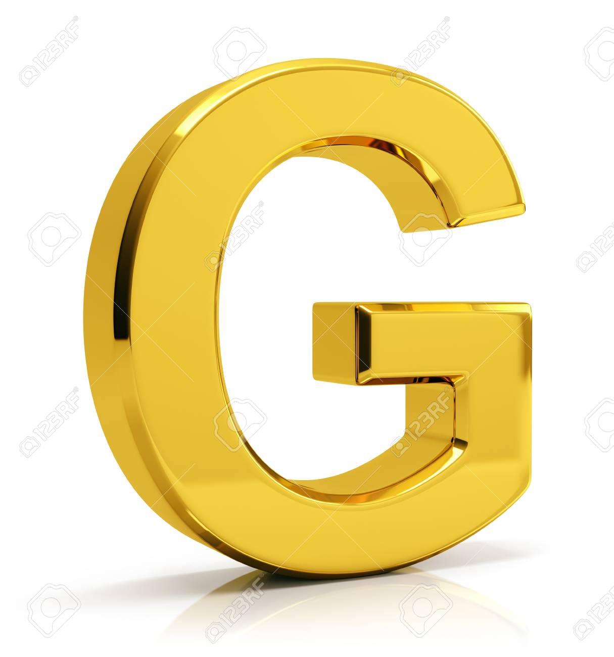 3d gold letter g