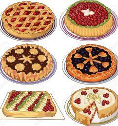 clip art set of homemade pies stock vector 11671553 [ 1300 x 1267 Pixel ]