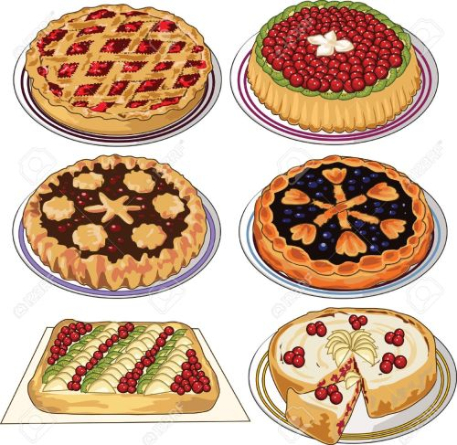 small resolution of clip art set of homemade pies stock vector 11671553
