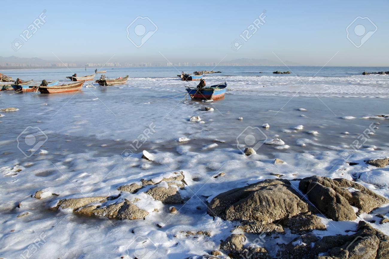 quai de bord de mer d hiver le paysage est tres beau