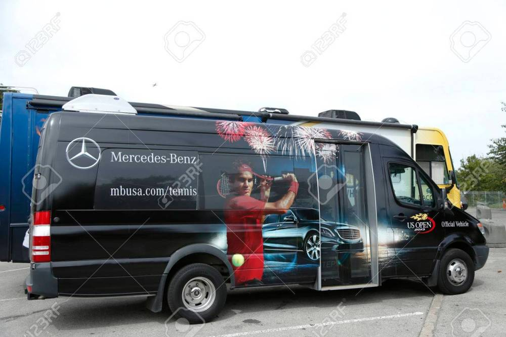 medium resolution of flushing ny september 9 mercedes benz bus at national tennis center during us