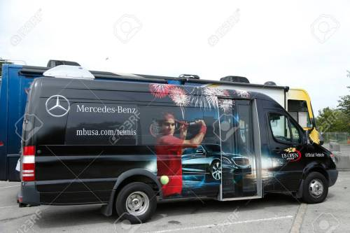 small resolution of flushing ny september 9 mercedes benz bus at national tennis center during us