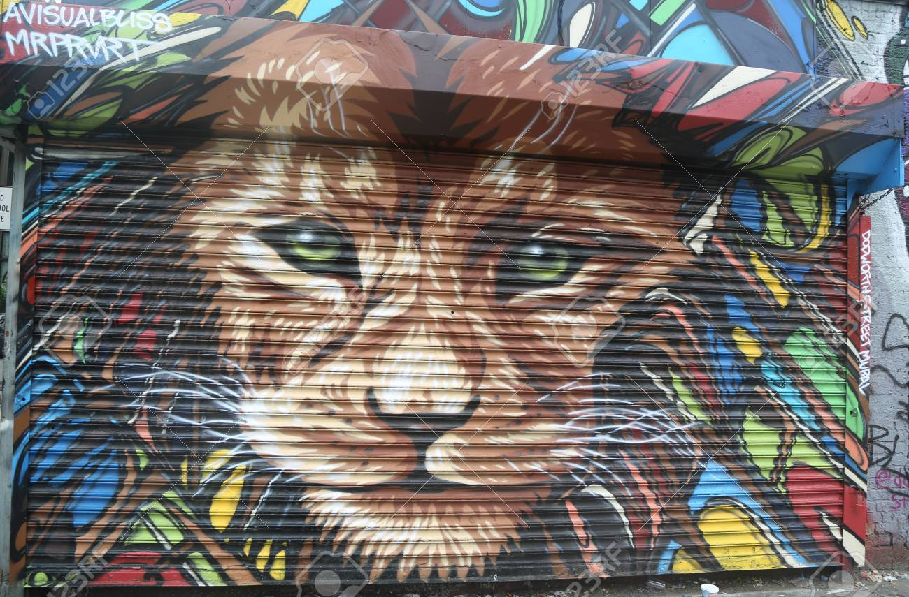 Main +1 212 813 8800. New York June 16 2015 Mural Art At Dodworth Street In Brooklyn A Mural Is Any