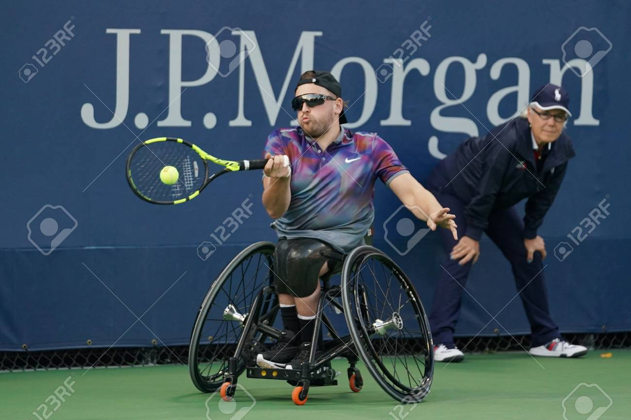 wheelchair quad abaca dining chairs new york september 7 2017 tennis player dylan stock alcott of australia in