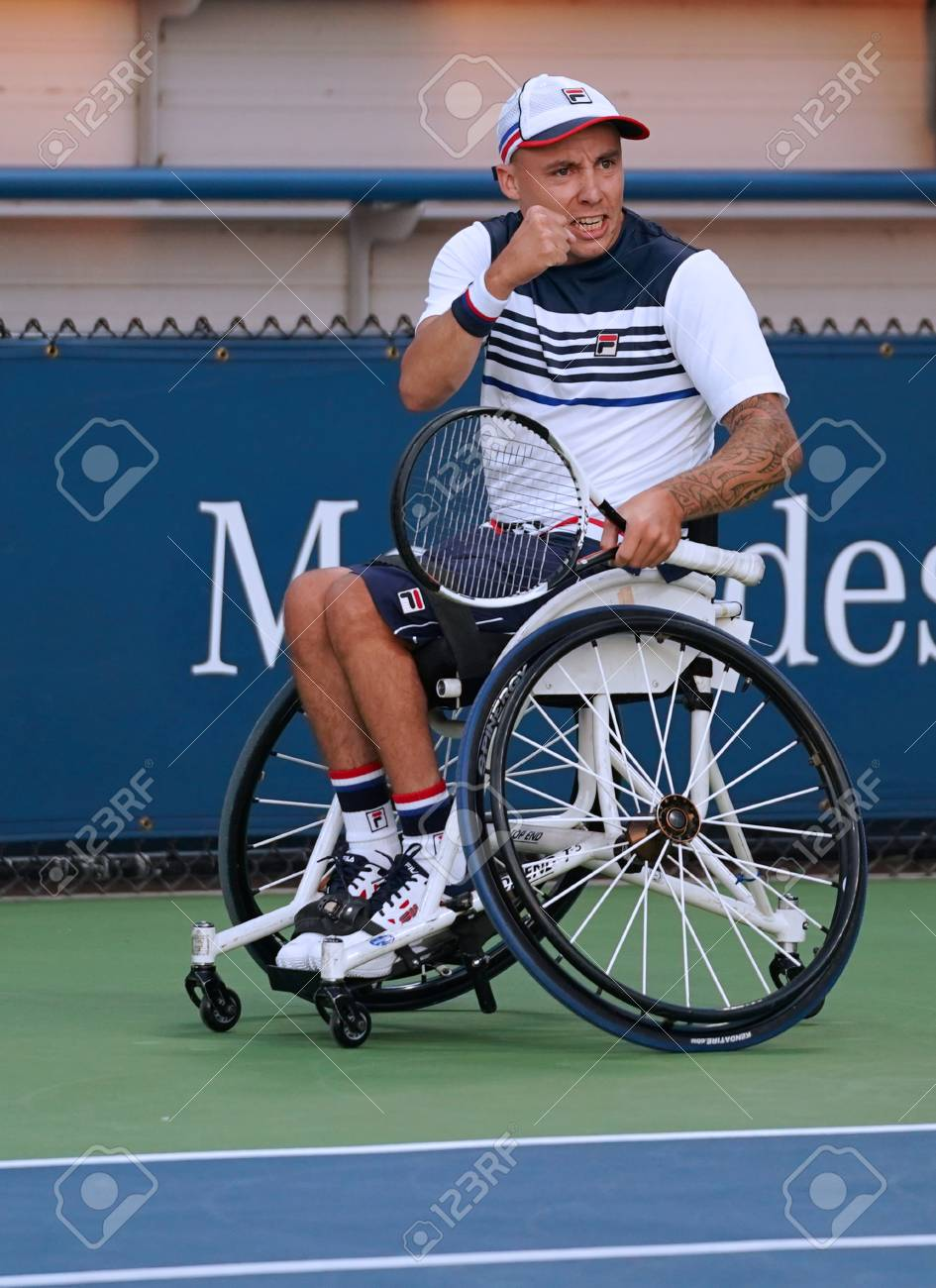 wheelchair quad plus size folding chairs uk new york september 7 2017 tennis player andrew lapthorne of great britain