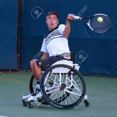 Wheelchair Quad Office Chair Table New York September 7 2017 Tennis Player Andrew Lapthorne Of Great Britain