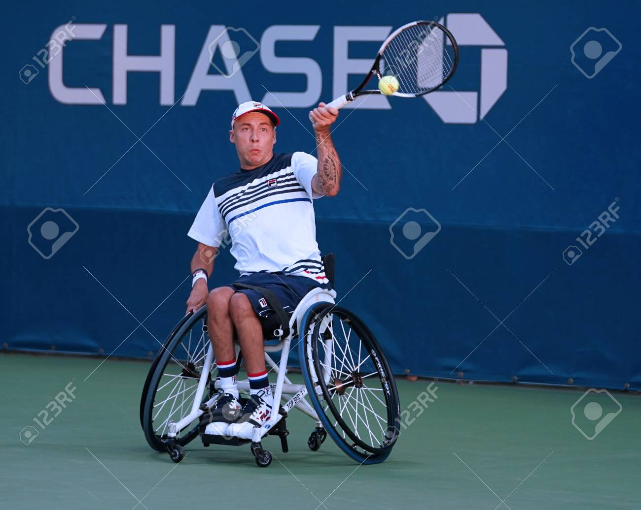 wheelchair quad electric massage chair new york september 7 2017 tennis player andrew lapthorne of great britain