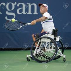Wheelchair Quad Patio Tables And Chairs New York September 7 2017 Tennis Player Andrew Lapthorne Of Great Britain