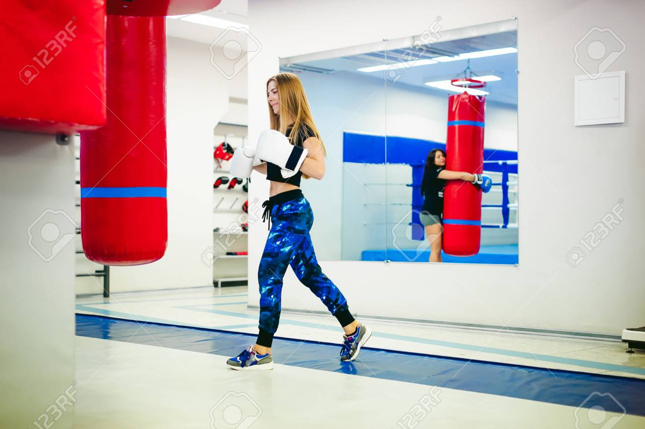 young woman exercising in