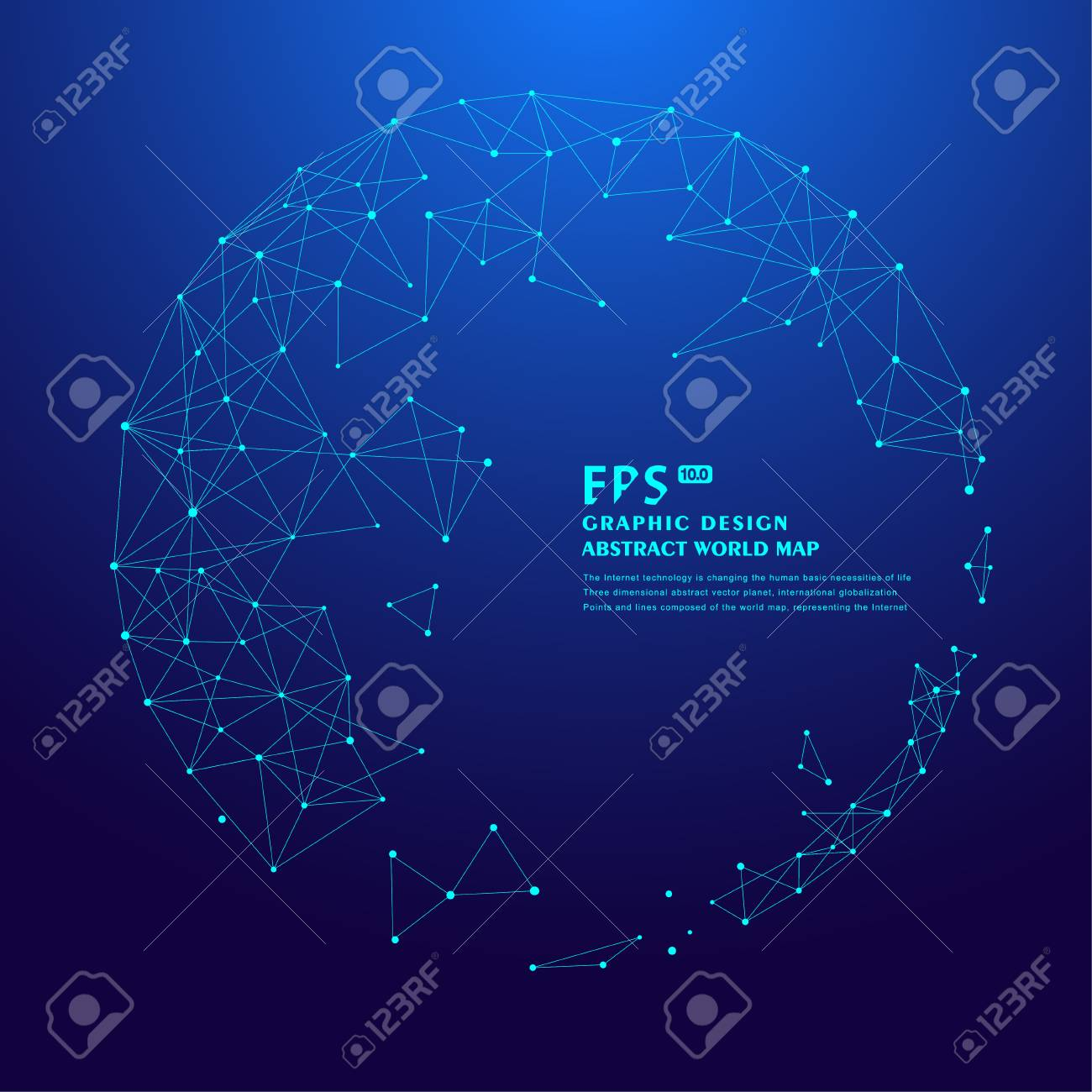 hight resolution of 3d polygon mesh sphere science and technology background point line connection stock vector 88967376