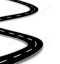 vector winding road isolated on white background [ 1300 x 731 Pixel ]