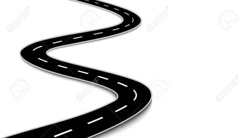 small resolution of vector winding road isolated on white background