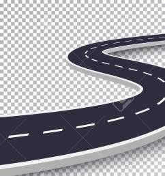 vector winding road isolated transparent special effect road way location infographic template [ 1300 x 831 Pixel ]