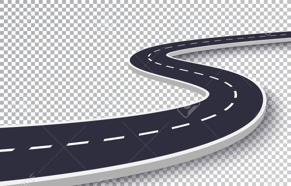 medium resolution of vector winding road isolated transparent special effect road way location infographic template