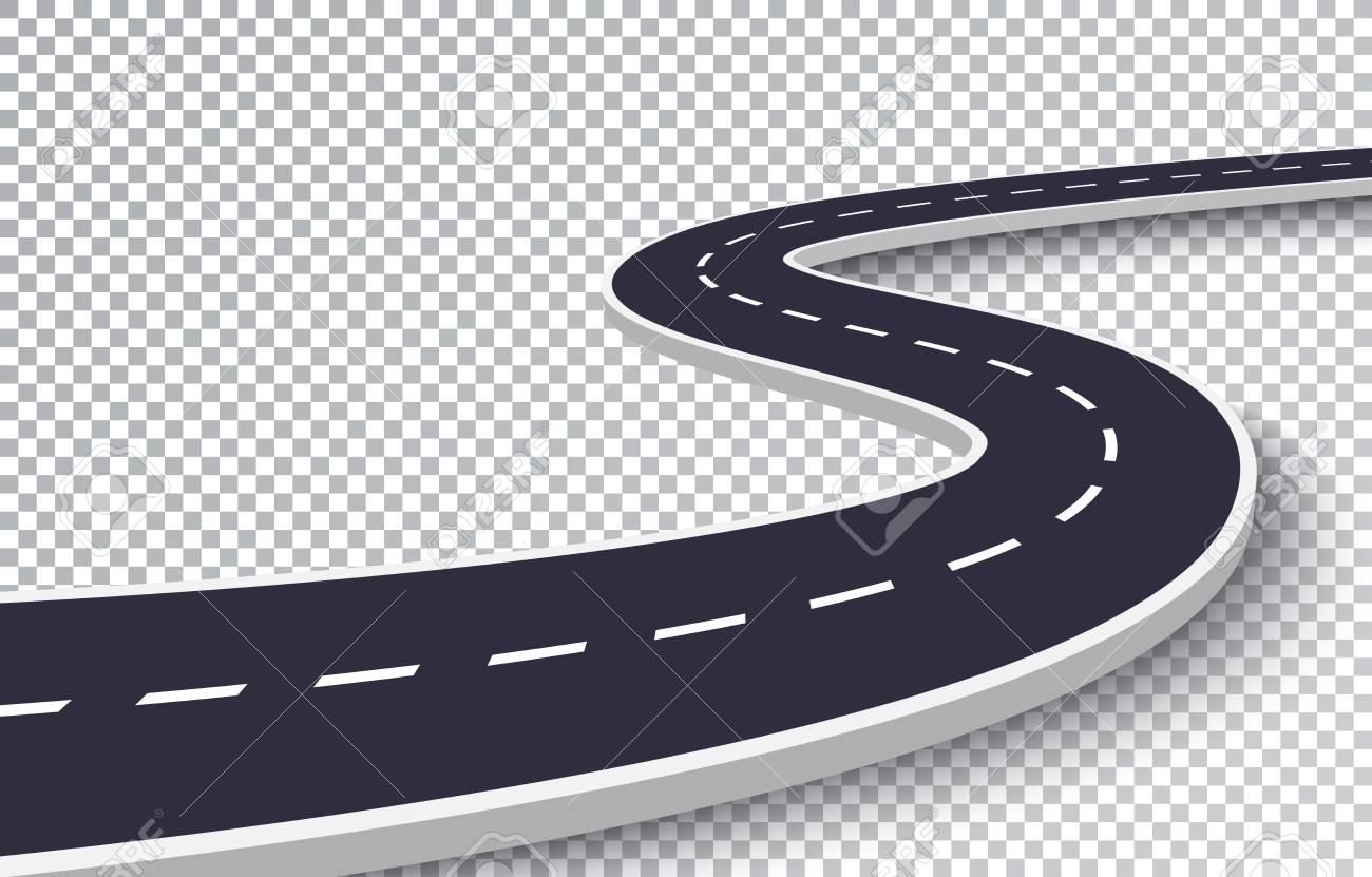 hight resolution of vector winding road isolated transparent special effect road way location infographic template