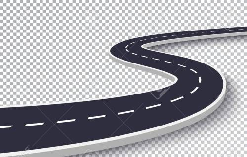 small resolution of vector winding road isolated transparent special effect road way location infographic template