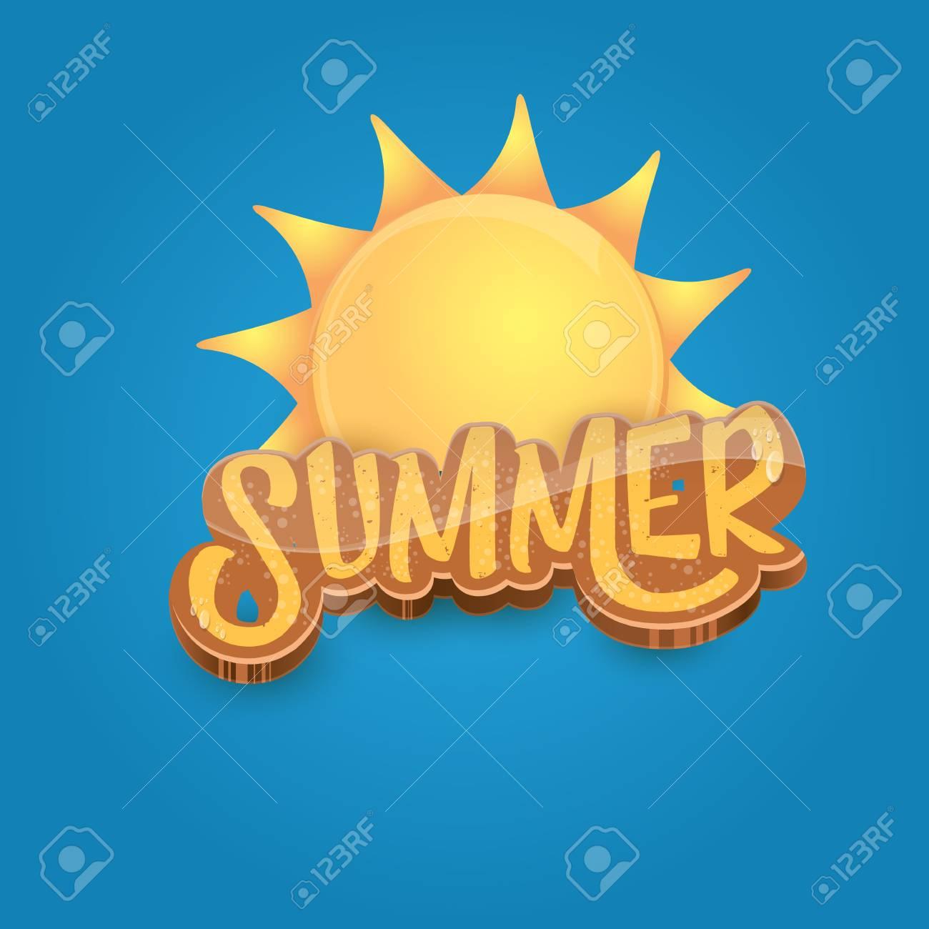 vector cartoon summer label