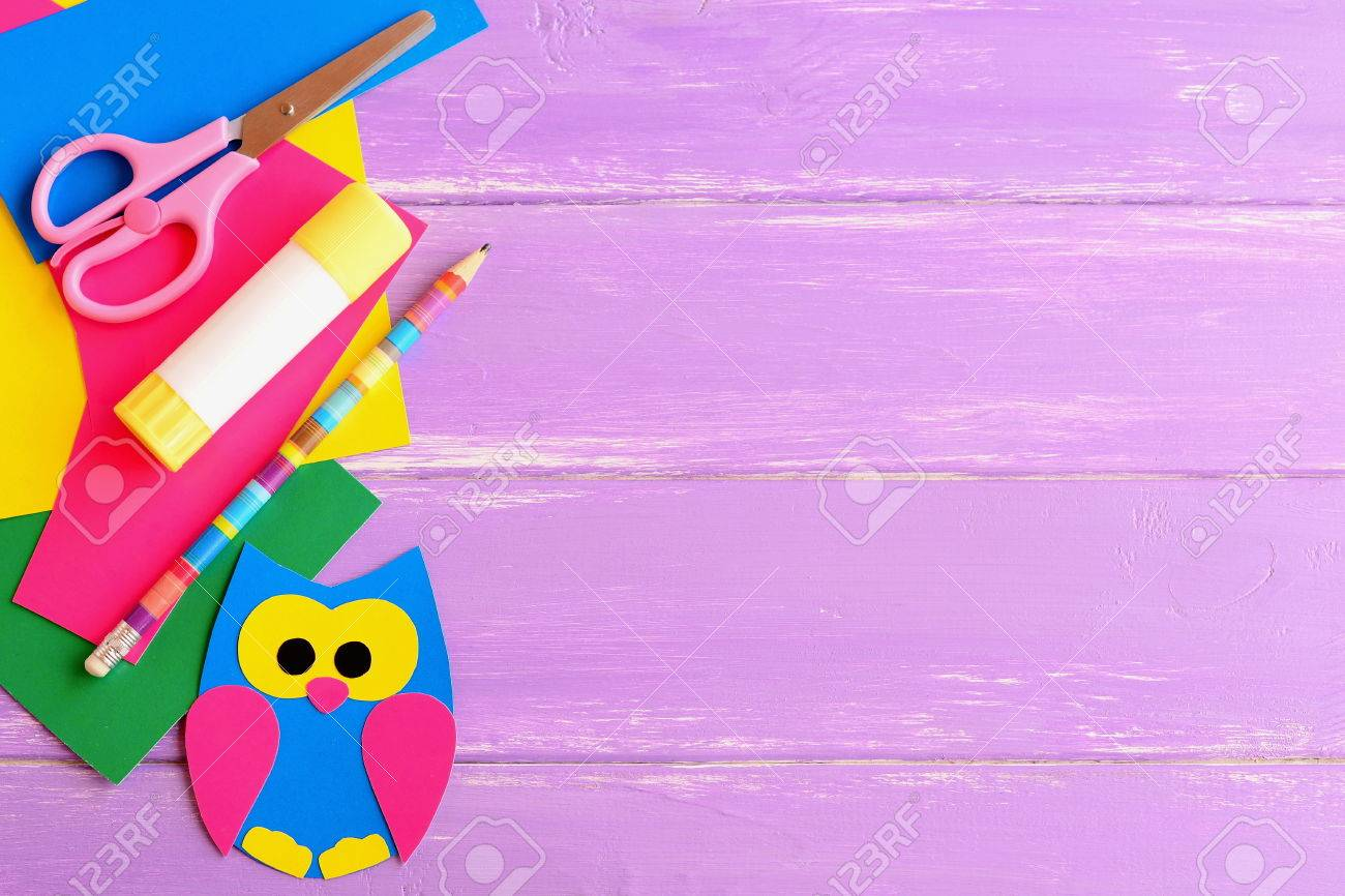 Cute Owl Decor Cute Owl Decor Stationery Coloured Cardboard Owl Decor Scissors