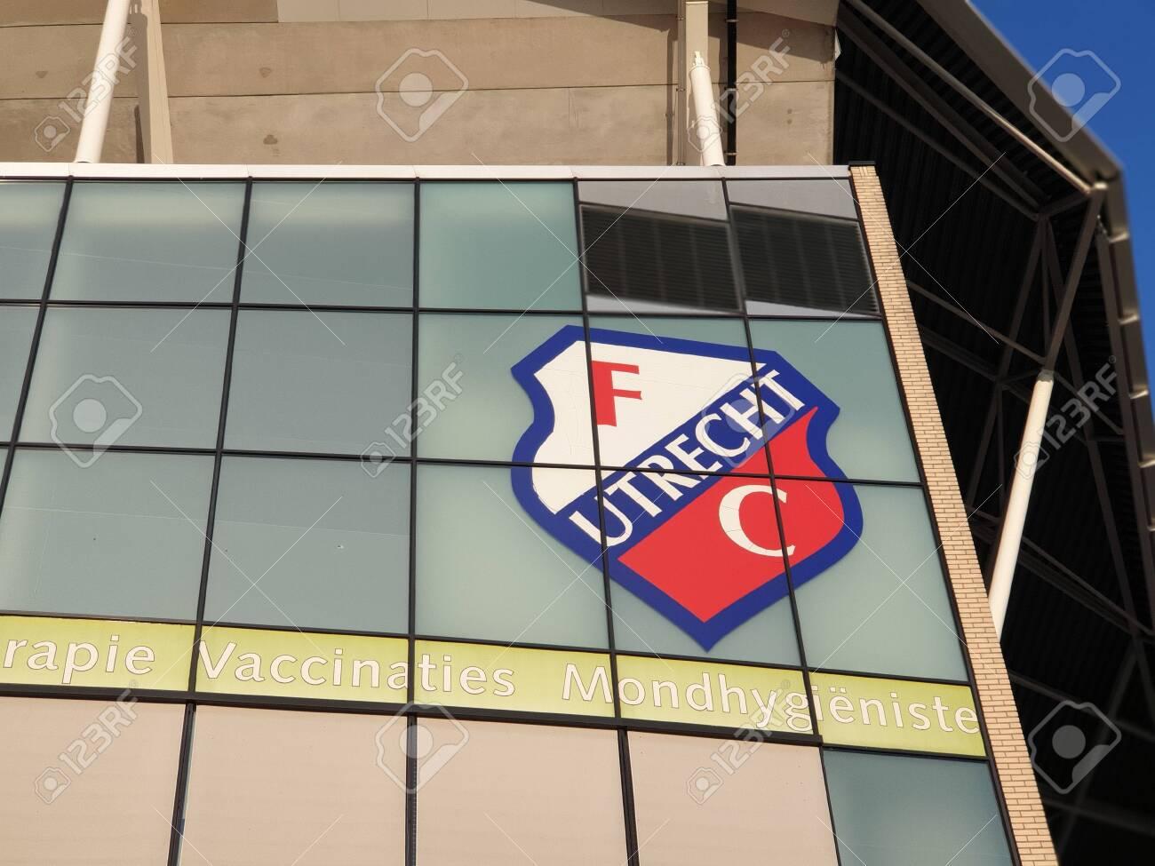 https www 123rf com photo 151527116 logo of the eredivisie football club fc utrecht on the nieuw galgenwaard stadium html