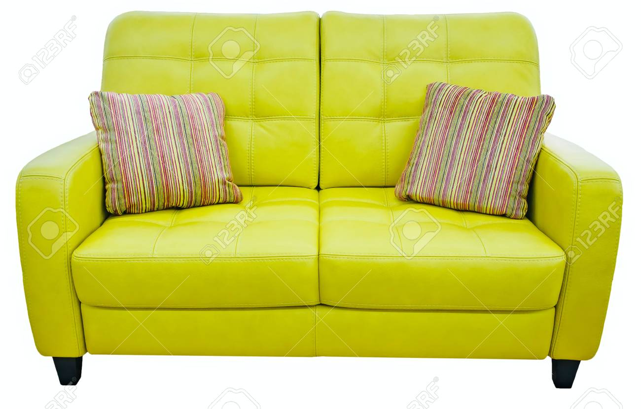 Green Lime Sofa With Pillow Soft Lemon Couch Classic Pistachio Stock Photo Picture And Royalty Free Image Image 88992176