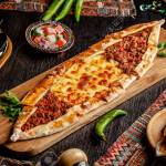 Traditional Turkish Cuisine Turkish Pizza Pita With A Different Stock Photo Picture And Royalty Free Image Image 124852049