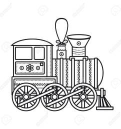 vintage train children s toy christmas decorations vintage train vector icon stock vector [ 1300 x 1300 Pixel ]