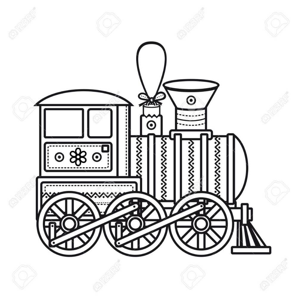 medium resolution of vintage train children s toy christmas decorations vintage train vector icon stock vector
