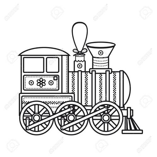 small resolution of vintage train children s toy christmas decorations vintage train vector icon stock vector