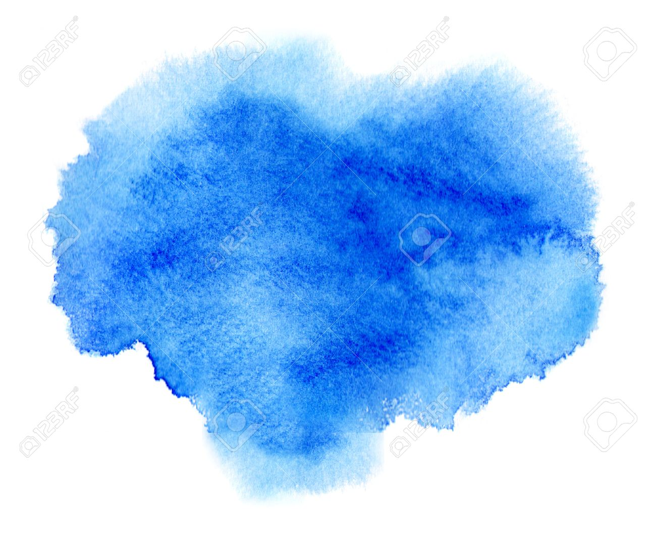 blue watercolor stain with
