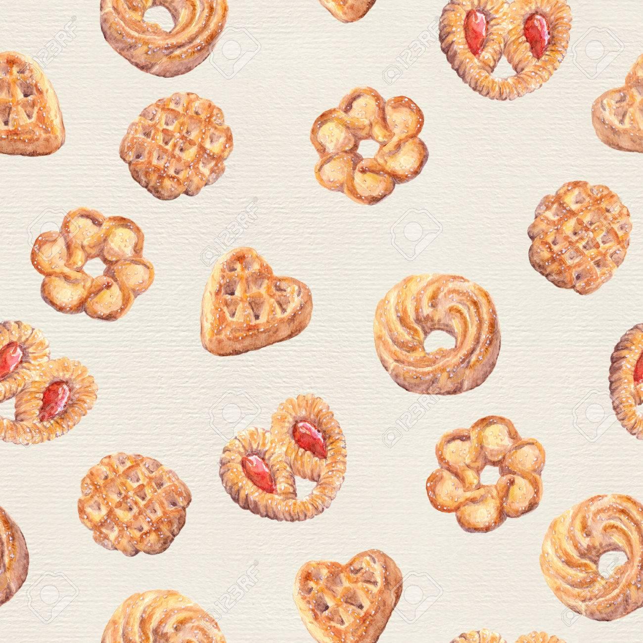 seamless cookies wallpaper baking