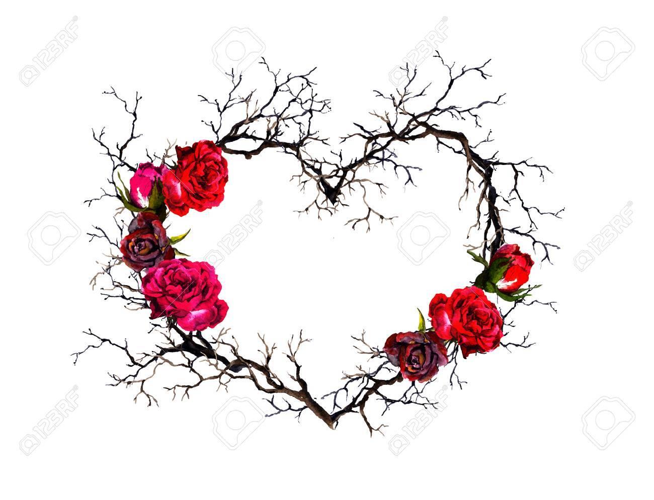 floral wreath heart shape