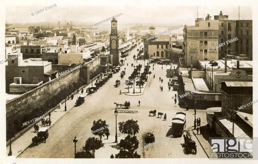 Aerial View Of The Place De France Casablanca Morocco