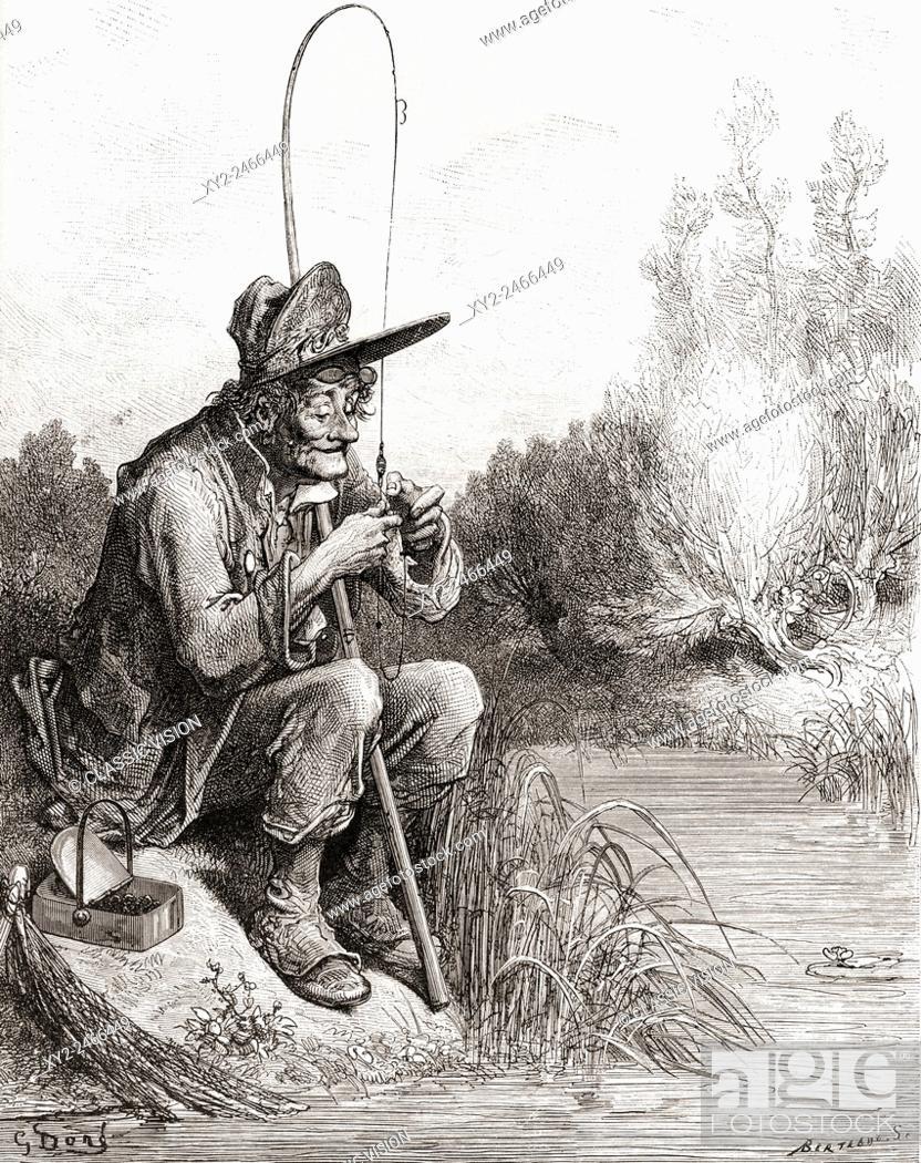 Le Petit Poisson Et Le Pecheur : petit, poisson, pecheur, Fisherman, Little, Petit, Poisson, Pêcheur),, Stock, Photo,, Picture, Rights, Managed, Image., XY2-2466449, Agefotostock