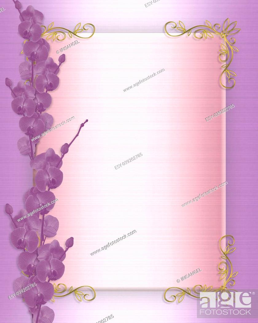 https www agefotostock com age en details photo image and illustration composition for elegant border wedding birthday party anniversary invitation background or template with orchids copy space esy 039202785