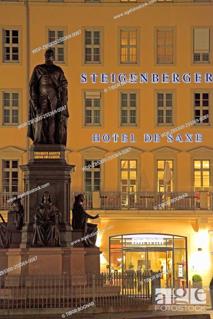 Germany Saxony Dresden Steigenberger Hotel De Saxe Stock