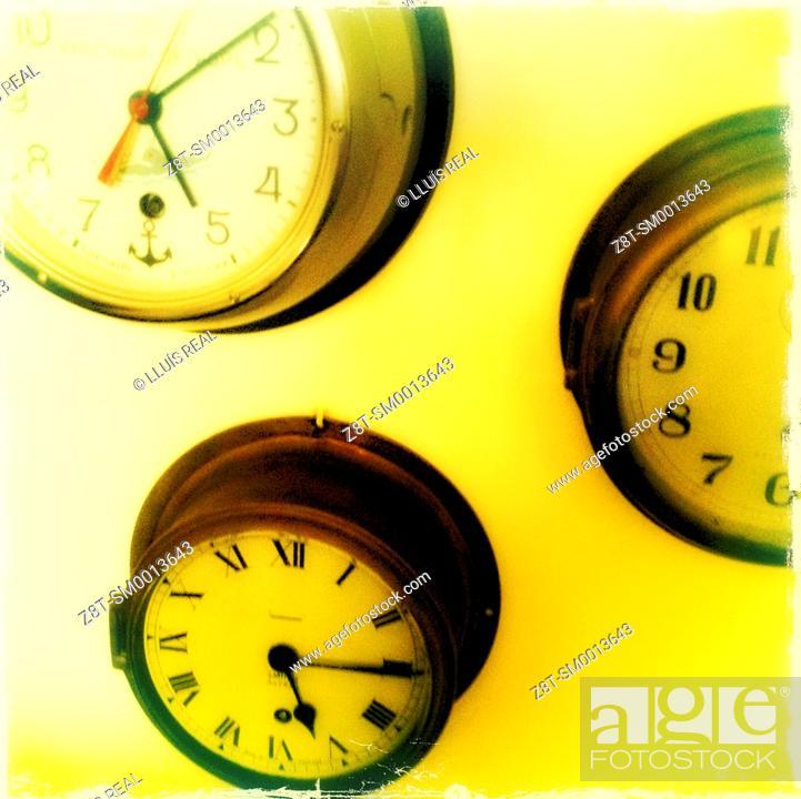 wall clocks stock photo