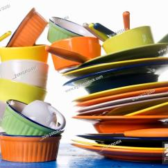 Colorful Kitchen Accessories Nice Knives Presentation Of Mixed For A Stock Photo