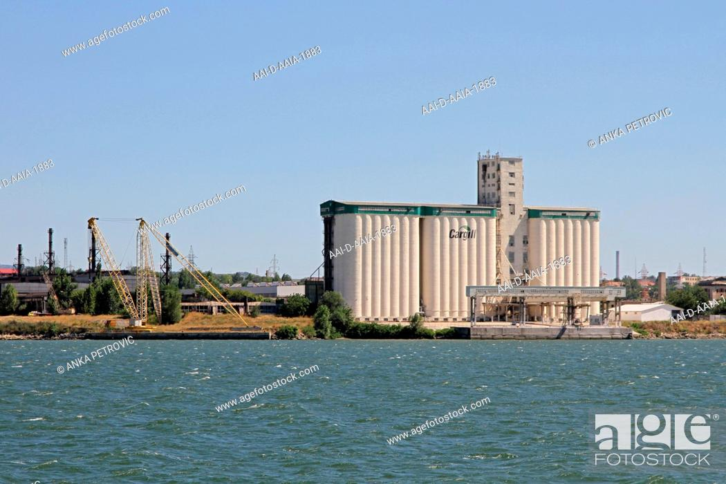 View Of Severin Cargill Grain Silos And Loading Bay On The